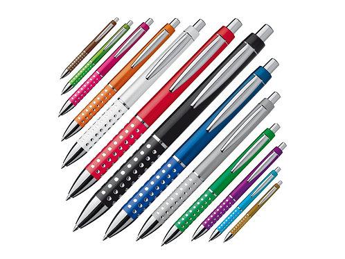Kunststoff Kugelschreiber mit verschiedenen glitzernden Farben