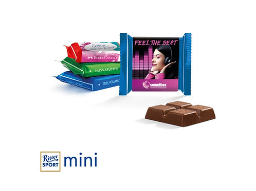 Ritter Sport Schokolade Miniwürfel mit bedruckter Banderole