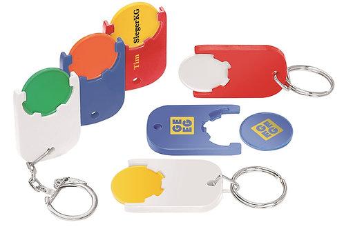Einkaufswagenchiphalter in vielen Farben mit und ohne Schlüsselring