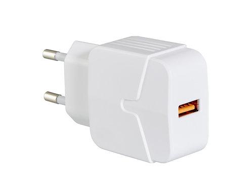 weißes Ladegerät für Handy oder Laptop