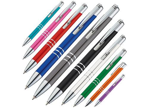 Aluminium Kugelschreiber in vielen Farben mit drei Zierringen