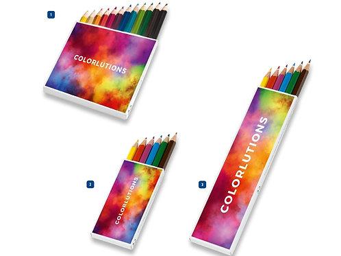 Buntstifte im 6er oder 12er Set Digitaldruck