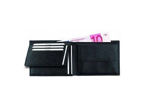 schwarze Eurostyle Leder Geldscheintasche offen