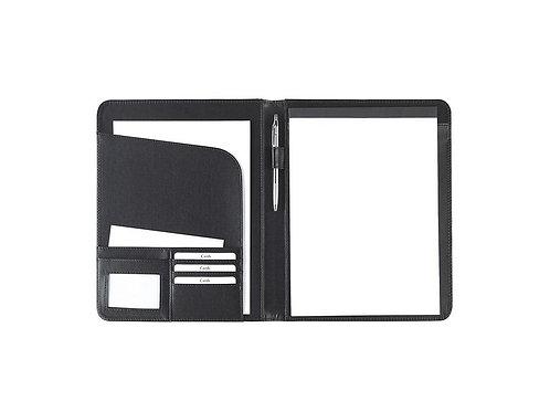 schwarze Eurostyle Schreibmappe A4 mit diversen Einsteckfächern