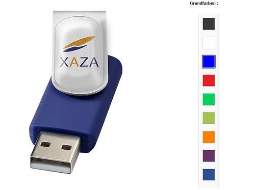 USB Stick in vielen Varianten Farbe Blau mit Doming Werbung