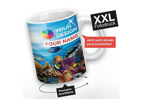 Tasse mit Fotodruck allover bedruckt