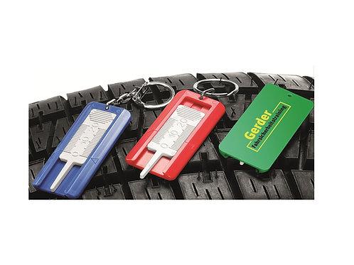 Reifenprofilmesser mit Schlüsselring in drei Farben