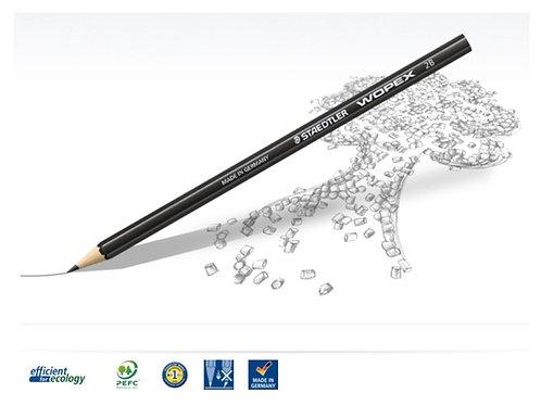 schwarzer Bleistift aus innovativem WOPEX Material sechseckig