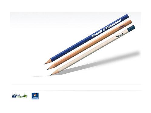 Bleistifte Holz hexagonal lackiert, naturbelassen oder Tauchkappe