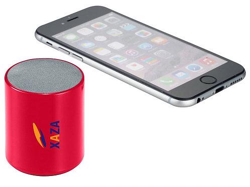 Bluetooth Lautsprecher in Rot mit Handy