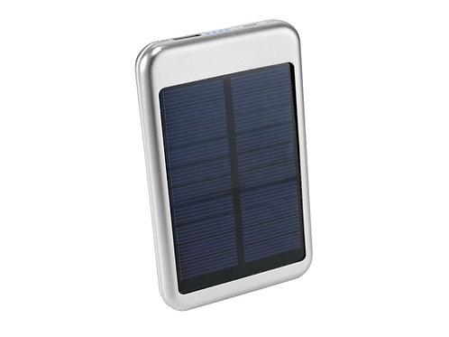 silbernfarbenen Solar Powerbank 4000 mAh