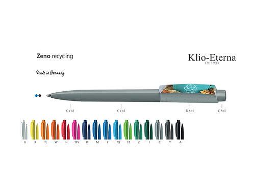 recycling Kugelschreiber in vielen Farben mit Druck auf dem Clip