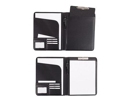 schwarze Eurostyle Schreibmappe mit Klemmbrett oder Block