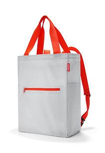 mini maxi Tasche von reisenthel in weiß mit orangenen Gurten