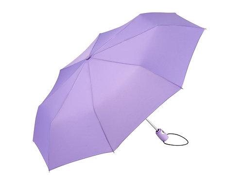 kleiner lilafarbener Taschenschirm mit Details