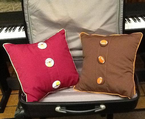 Novelty sports print fabric buttons(Sport pillows)