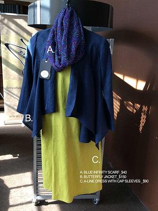 A-LINE/CAP SLEEVE DRESS