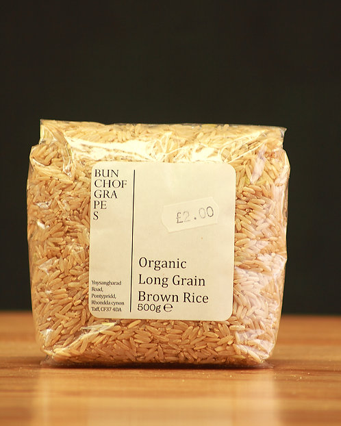 Organic Long Grain Brown Rice 500g
