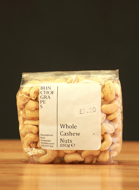 Whole Cashew Nuts 250g