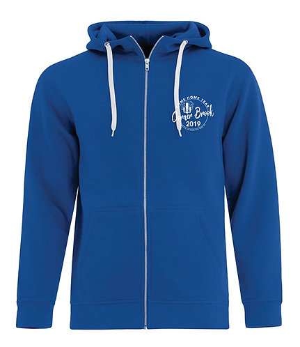 Personalized Zip Up Hoodie with Embroidered Logo