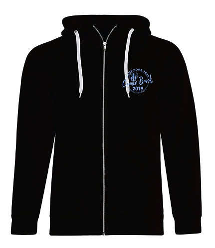 Zip Up Hoodie with Embroidered Logo