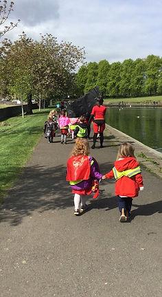 Superhero day at Arbor Green Nursery