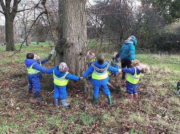 Enjoying Forest School at Arbor Green Nursery