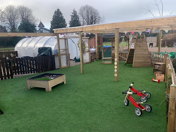 One of our outdoor areas with Polytunel at Arbor Green Nursery
