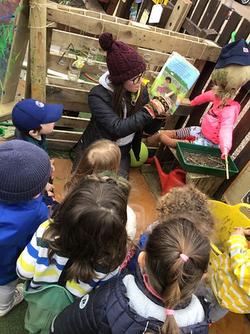 Story time at Arbor Green Nursery
