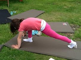 Kids yoga at Arbor Green Nursery