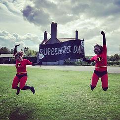 Arbor Green Nursery staff enjoying superhero day