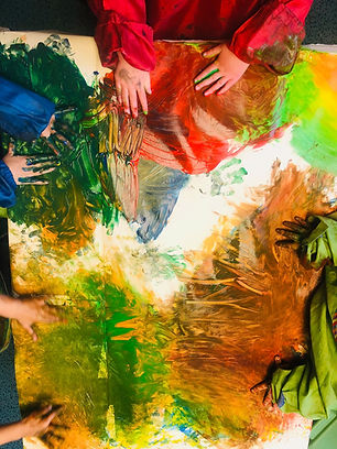 Children painting at Arbor Green Nursery