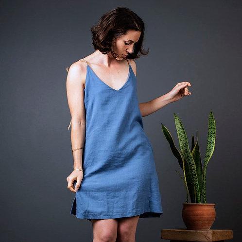 Lovina Dress | Hemp Linen | Ocean