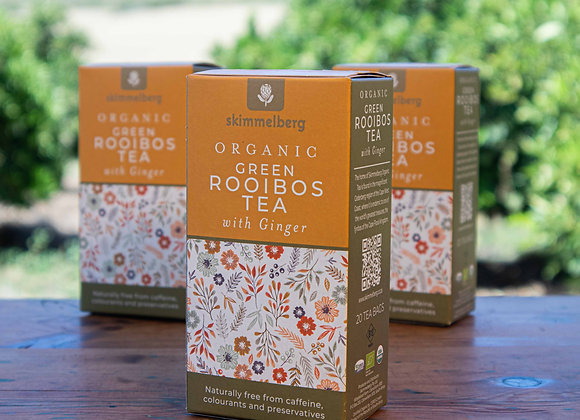 Organic Green Rooibos Tea with Ginger