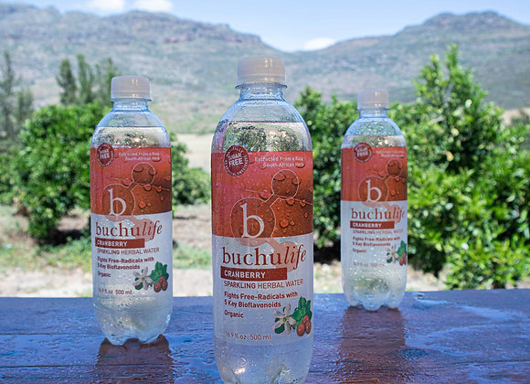 Buchulife Sparkling Herbal Water Cranberry