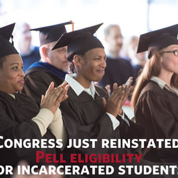 Congress reinstates Pell eligibility for incarcerated students