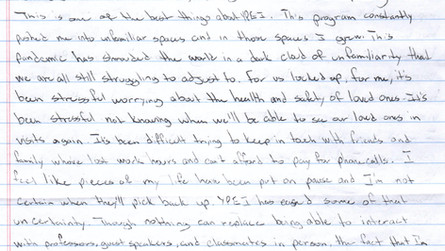 Voices from Inside: Letter from Carl