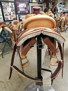 Yellow seat latigo strap photo 5.jpg