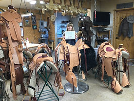 Trish and replica saddle.jpg
