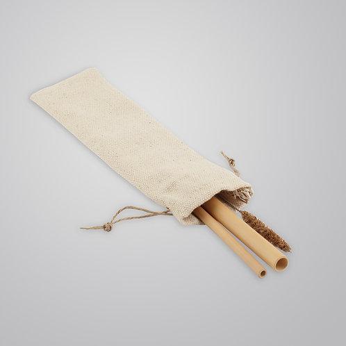 Naked Bites Logolu Bambu Pipet & Temizleme Fırçası - 2'li set -Gaia's Store