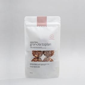 Granola Balls - Organic Raw Cacao & Peanut Butter - 70 gr
