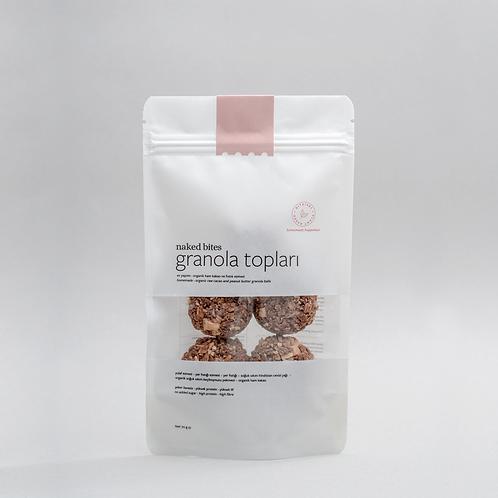 Granola Topları-Organik Ham Kakao & Fıstık Ezmeli - 70 gr