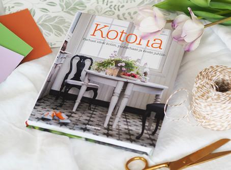 Kotona-kirja on runsaudensarvi, josta löytyy ideat kotiin, puutarhaan ja kesän juhliin