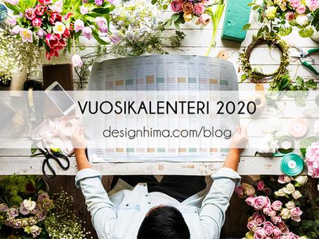 Vuosikalenteri 2020 – printtaa se itse!