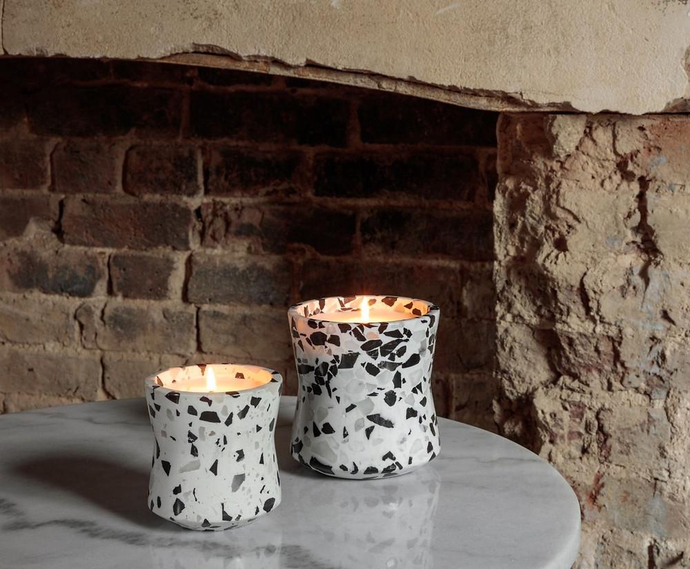 terrazzo kynttilät