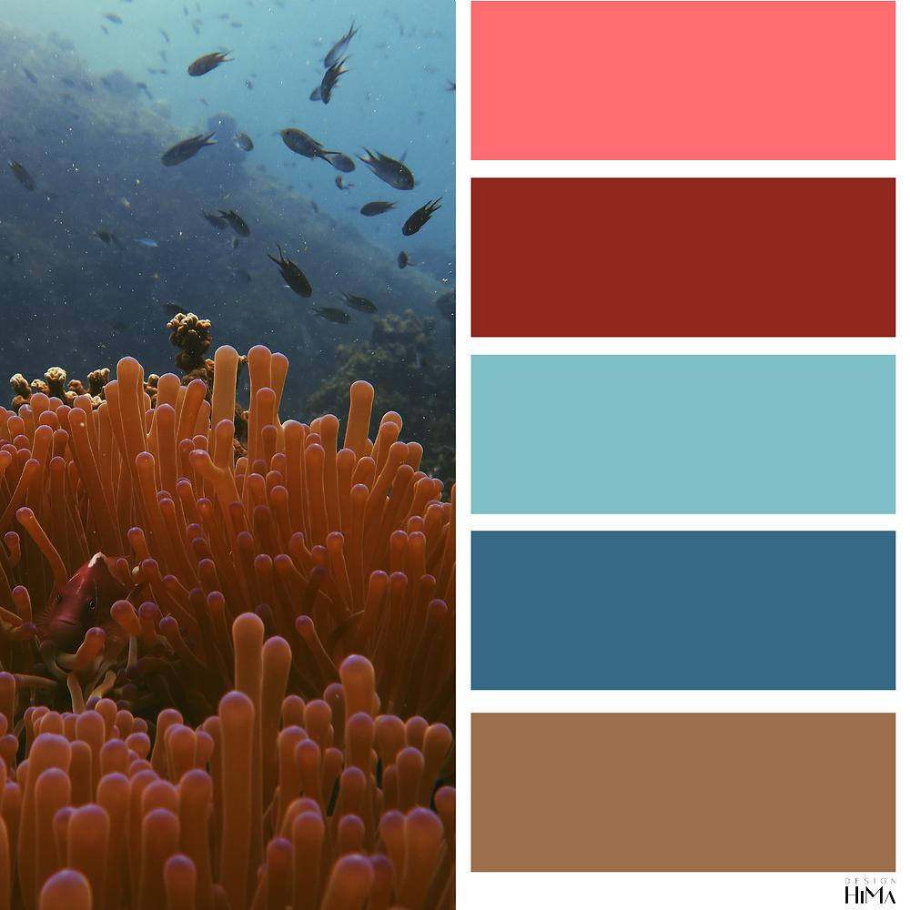 Pantone Living Coral värikartta