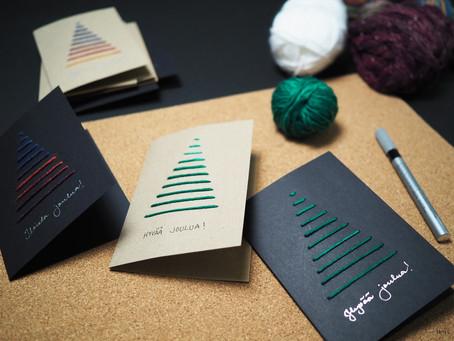 Joulukortit itse askarrellen