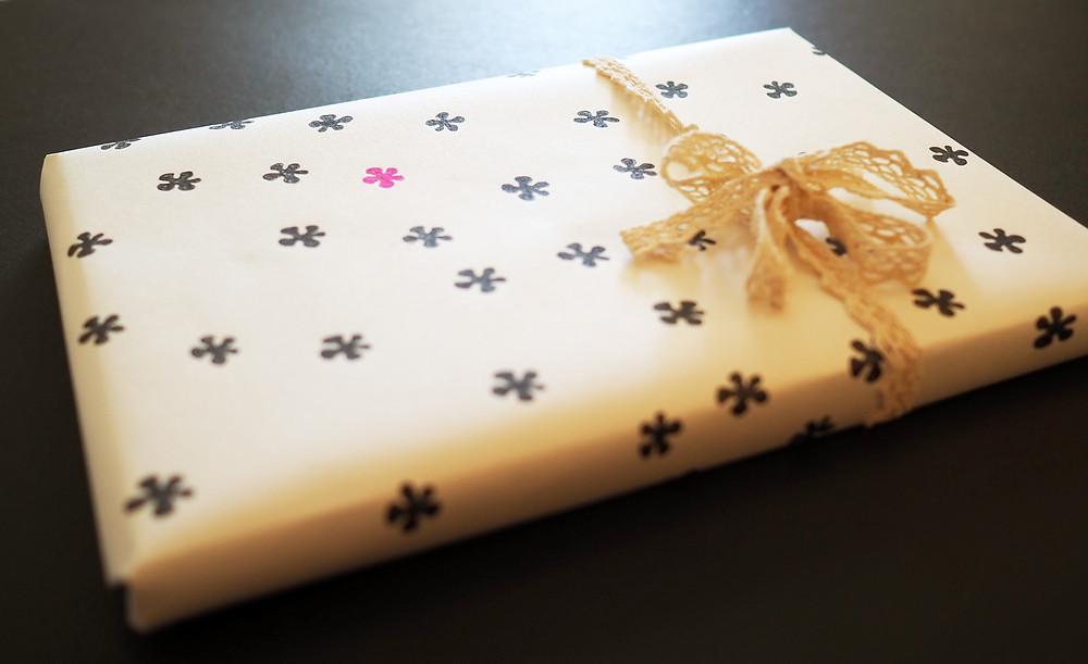 tee-se-itse lahjapaperi