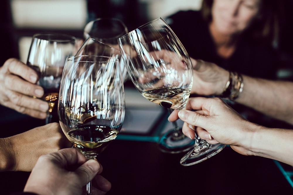 Kirja, Ruoka & Viini -messut wine tasting