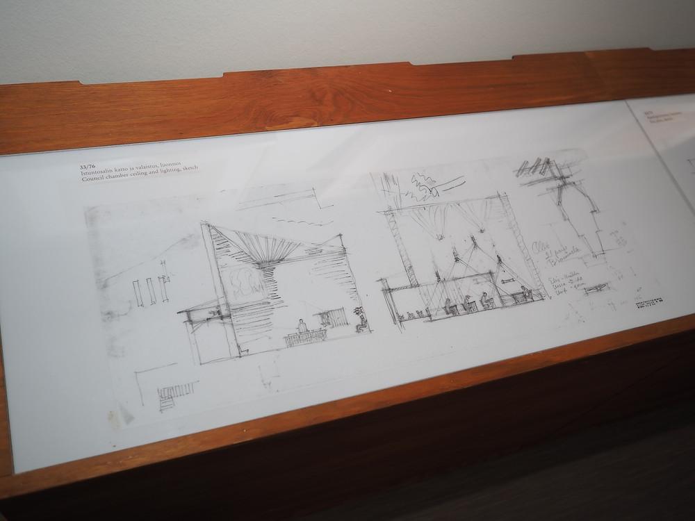 Säynätsalon kunnantalo piirustuksia